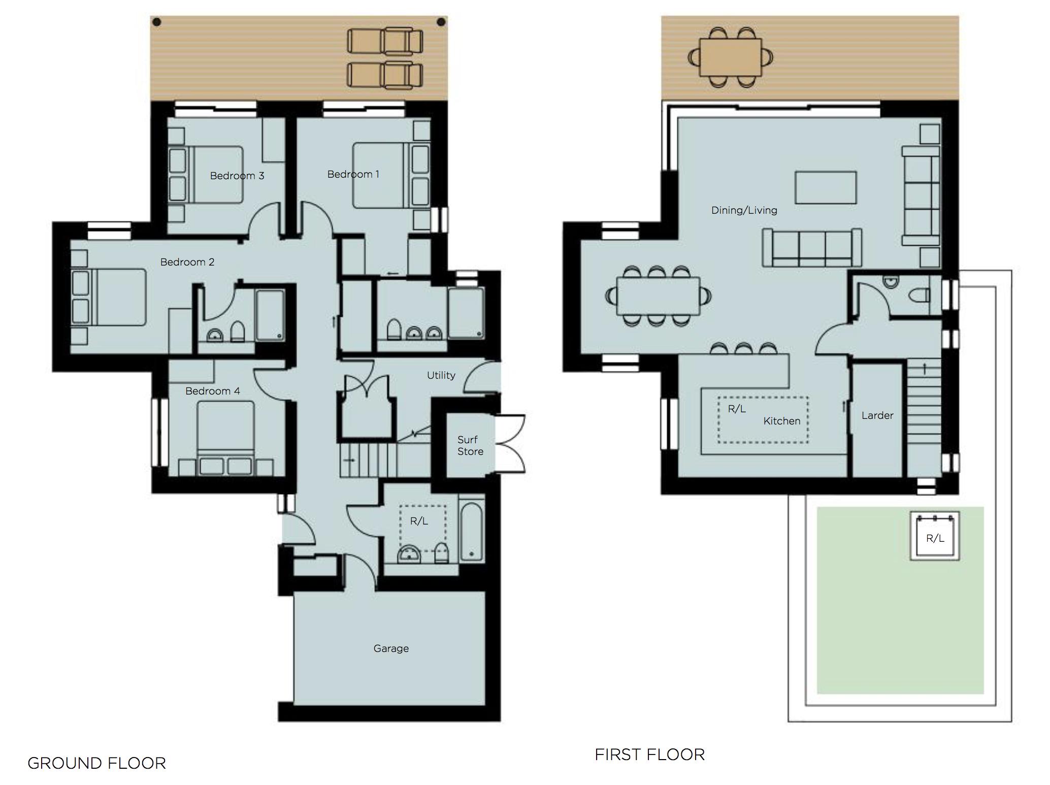 Constantine bay, Cornwall PL28 8JJ, 4 Bedrooms Bedrooms, ,Detached Bungalow,For Sale,1359
